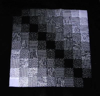 Patchwork- und Quiltforum - - Schwarz-weisse Tischdecke