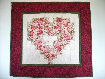 Patchwork und quiltforum herziger wandbehang - Wandbehang patchwork ...