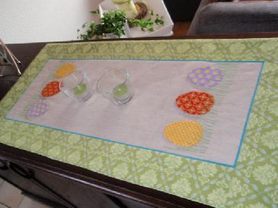 Patchwork Und Quiltforum Tischlaufer Ostern