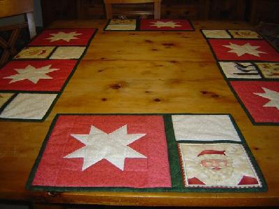 patchwork und quiltforum tischset f r weihnachten. Black Bedroom Furniture Sets. Home Design Ideas