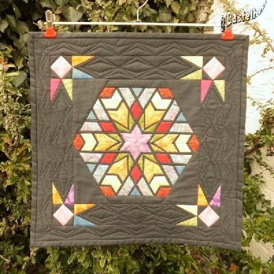Patchwork und quiltforum wandbehang lichtblicke - Wandbehang patchwork ...