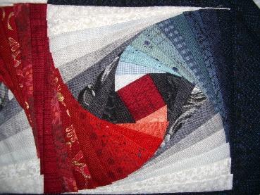 Patchwork und quiltforum mein crazy twisted log cabin - Wandbehang patchwork ...