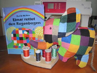 patchwork und quiltforum elmar der elefant. Black Bedroom Furniture Sets. Home Design Ideas
